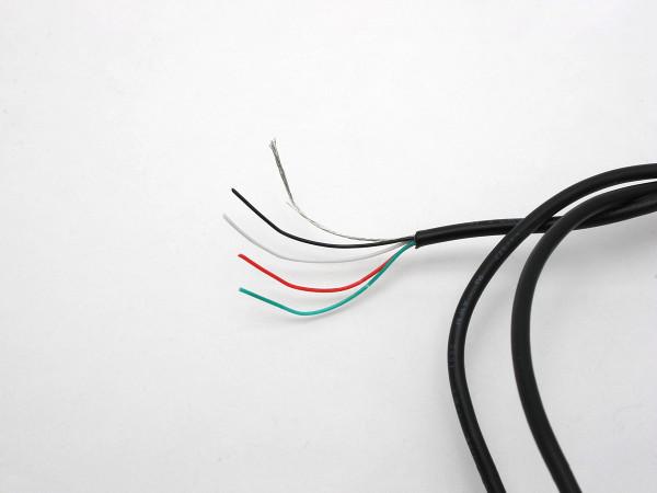 göldo Pickup-Kabel / 4-adrig / abgeschirmt